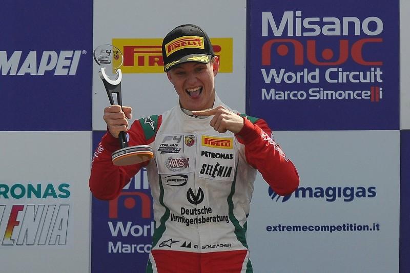 Mick Schumacher takes early Italian Formula 4 Championship lead