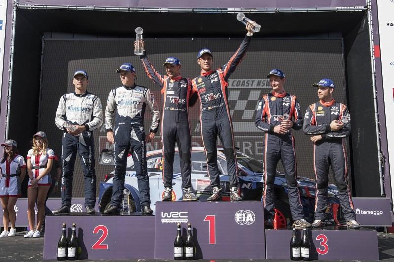 Rally Australia WRC: Neuville wins as Latvala throws away second