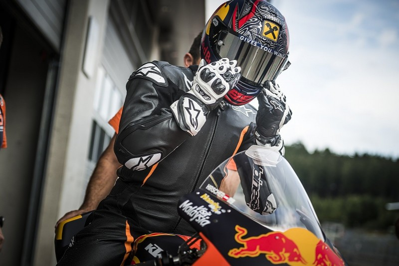 Champion skier Hirscher tests KTM MotoGP bike at Red Bull Ring