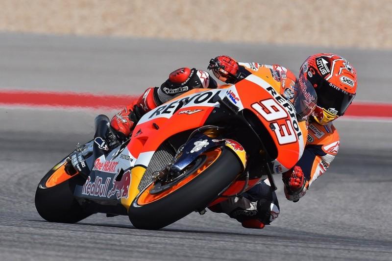Marc Marquez dominates Austin MotoGP Friday practice despite crash