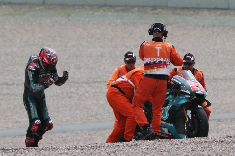 """Quartararo Sachsenring MotoGP crash due to """"hesitation"""" in battle"""