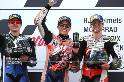 Marquez gets 10th Sachsenring win in a row, MotoGP rival Rins crashes