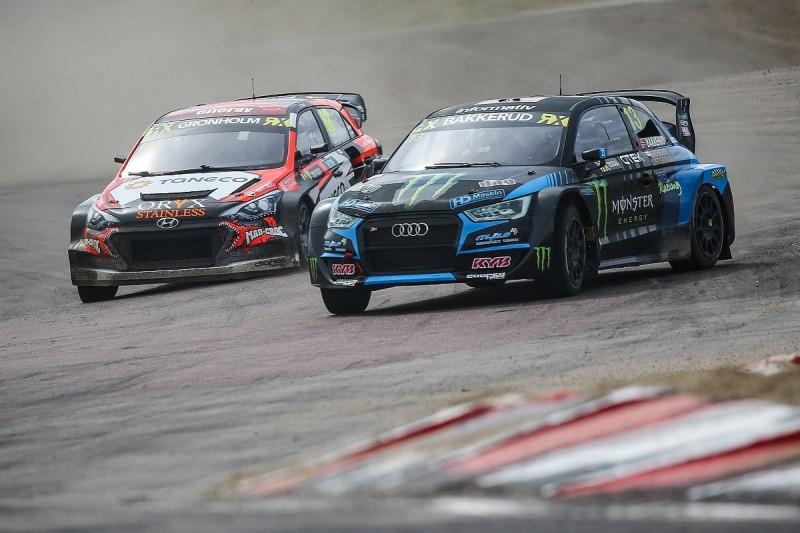Bakkerud holds overnight WRX Sweden lead as Timmy Hansen struggles