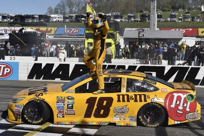 Kyle Busch claims first win of his NASCAR Sprint Cup title defence