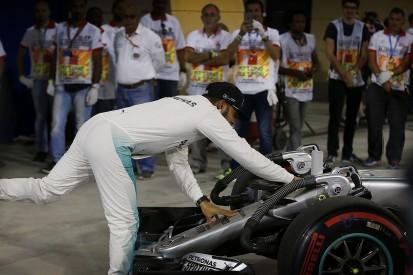 Hamilton keeps Bahrain GP pole after investigation for reversing