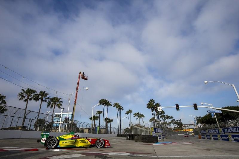 Daniel Abt and Sebastien Buemi lead Long Beach Formula E practice