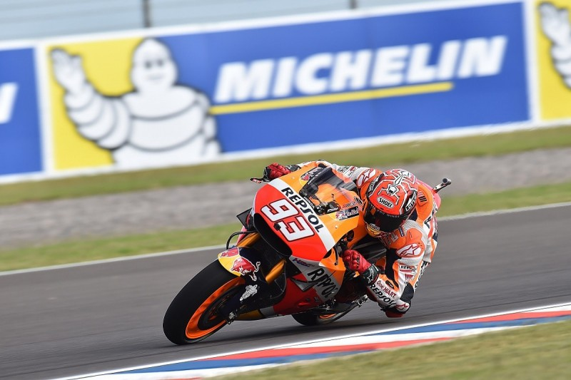 Marc Marquez tops MotoGP practice two, Jorge Lorenzo only 14th