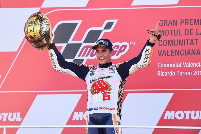 Marc Marquez wins MotoGP title, Dovizioso crashes, Pedrosa wins race