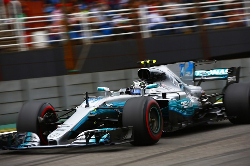 Brazilian GP: Bottas beats Vettel to pole after Hamilton crashes