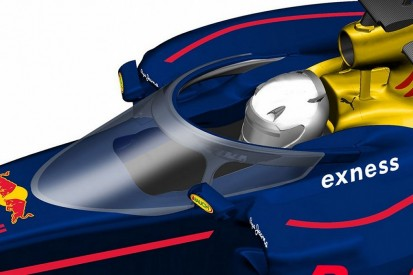 Red Bull F1 team trials mock-up of its cockpit safety system
