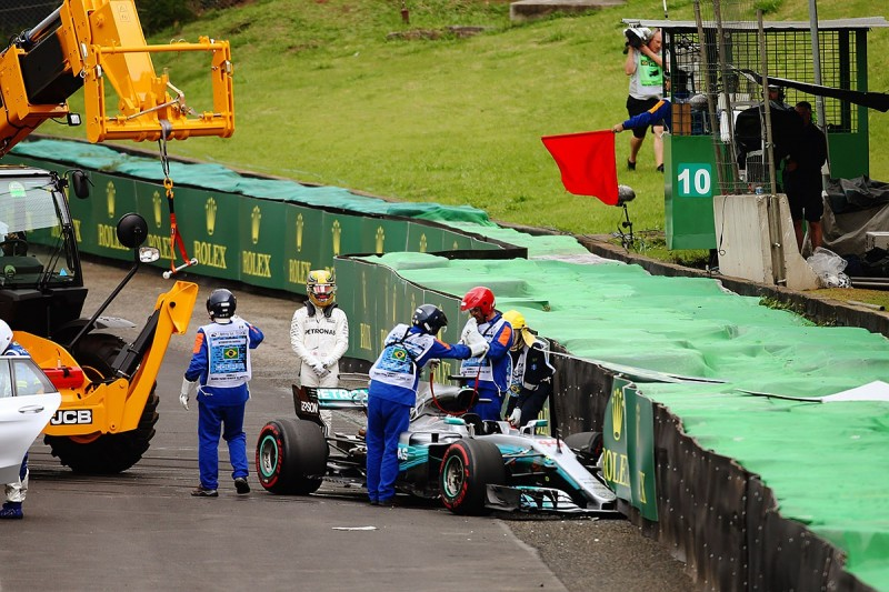 Lewis Hamilton to start F1 Brazilian GP from pits after crash