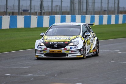Ex-IndyCar racer Martin Plowman tests BTCC Vauxhall