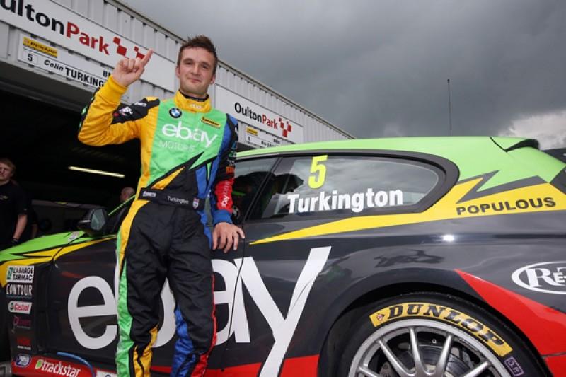 Oulton Park BTCC: Colin Turkington takes pole for WSR BMW in wet