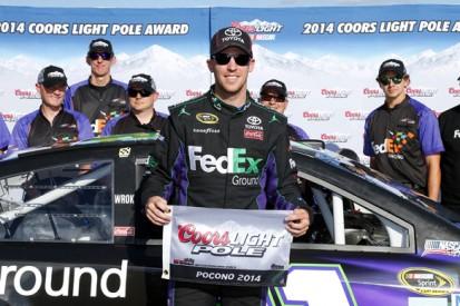 Pocono NASCAR: Denny Hamlin on top in qualifying shootout