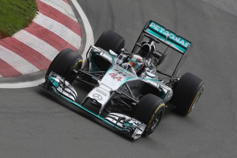 Canadian GP: Lewis Hamilton beats Nico Rosberg in practice two
