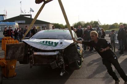 BTCC racer Simon Belcher's Thruxton crash rebuild completed on time