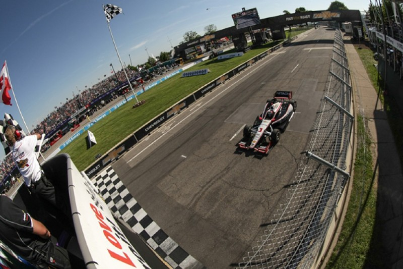 Detroit IndyCar: Helio Castroneves takes victory in Penske one-two