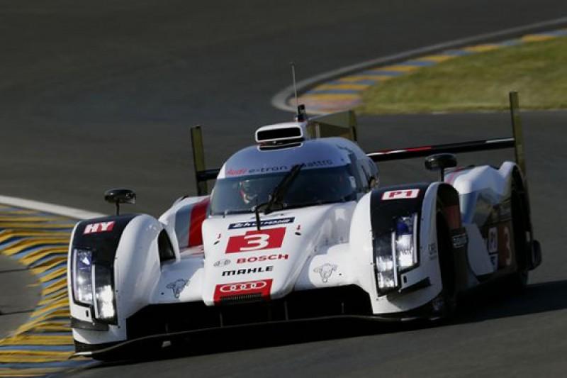 Marco Bonanomi's Audi sets early Le Mans test day pace