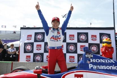 Detroit IndyCar: Takuma Sato secures pole for AJ Foyt Racing