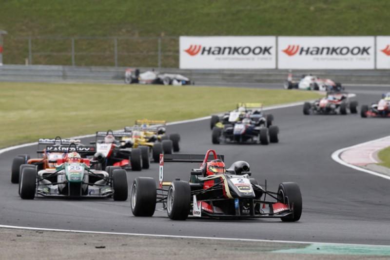 Hungary European F3: Lotus F1 junior Ocon wins rain-affected race