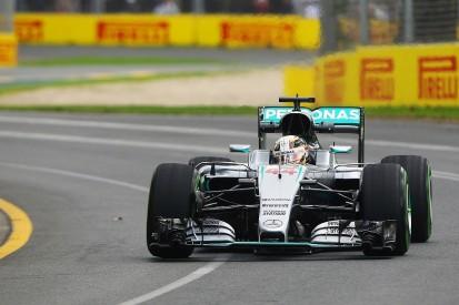 Lewis Hamilton fastest in Melbourne practice, Nico Rosberg crashes