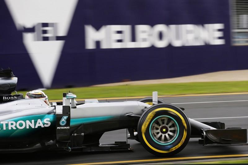 Lewis Hamilton sets pace in rain-hit first Australian GP practice