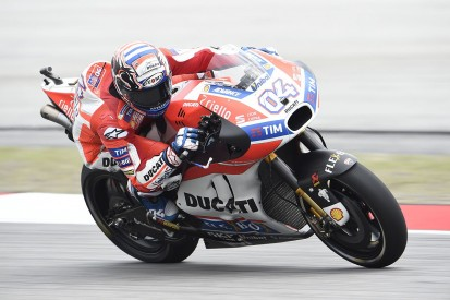 Andrea Dovizioso stays on top in wet MotoGP practice in Malaysia