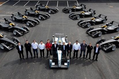 First Formula E cars delivered to teams at Donington