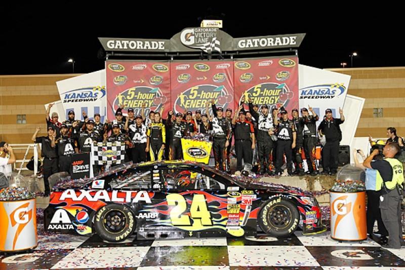 Gordon says Kansas NASCAR Sprint Cup win shows retirement far away