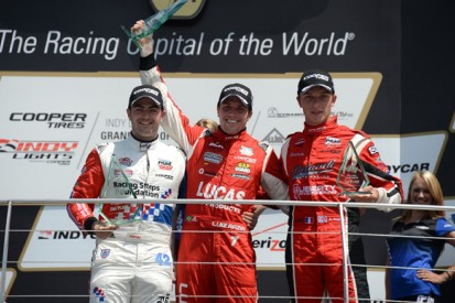 Indianapolis Indy Lights: Luiz Razia holds off Jack Harvey for win