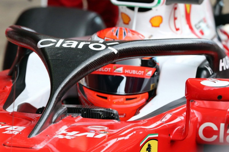 Ferrari's Raikkonen says visibility with F1 halo 'was OK'