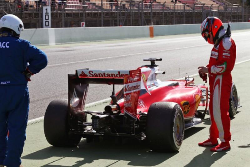 Ferrari's Kimi Raikkonen thwarted by gearbox issue in testing