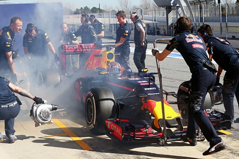 Red Bull F1 team resolves brake issue behind Kvyat's test problem
