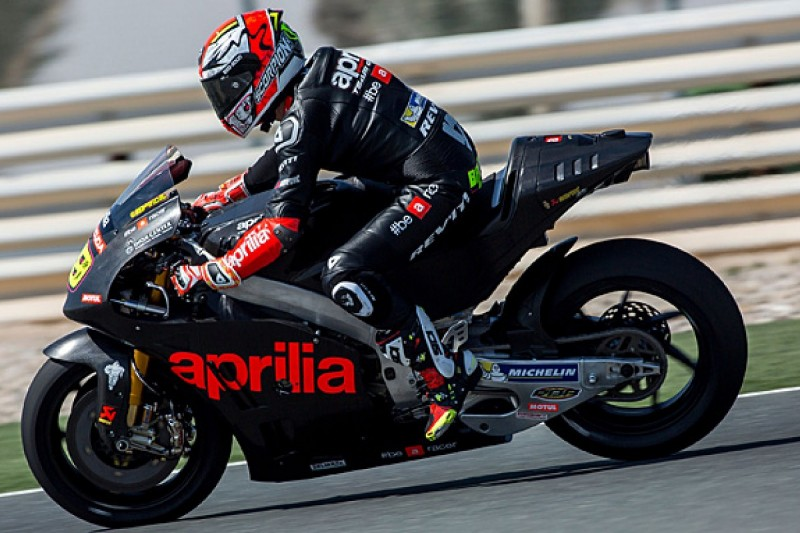 Aprilia completes first full test with 2016 MotoGP bike