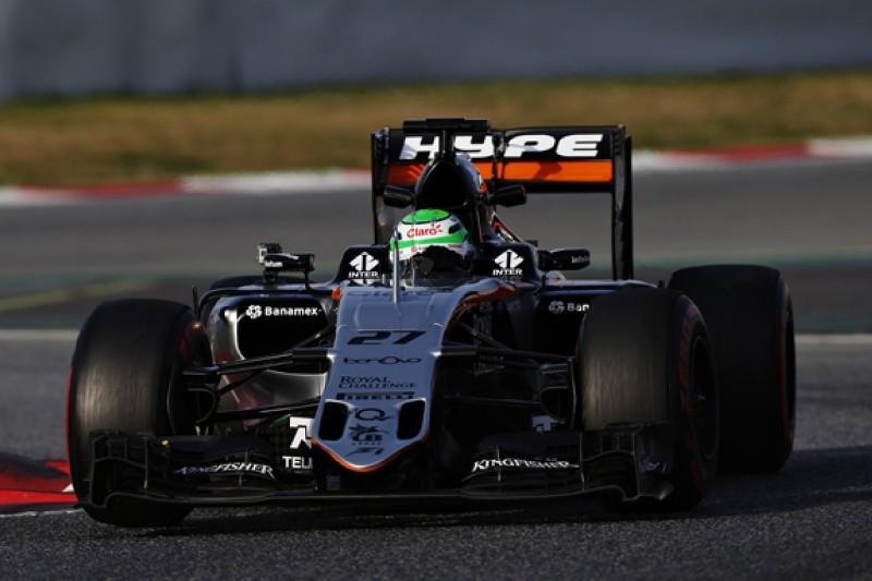 Barcelona F1 test: Force India's Hulkenberg on top, Ferrari delayed