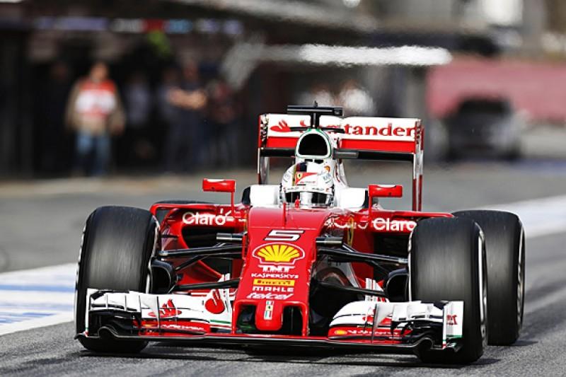 Barcelona F1 test: Sebastian Vettel and Ferrari top day one