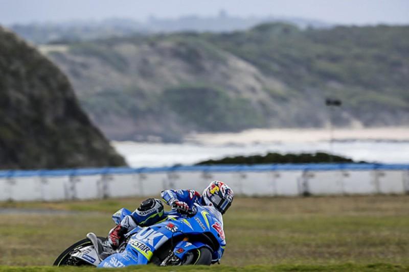 Maverick Vinales' 'feet on ground' over Suzuki's MotoGP test pace
