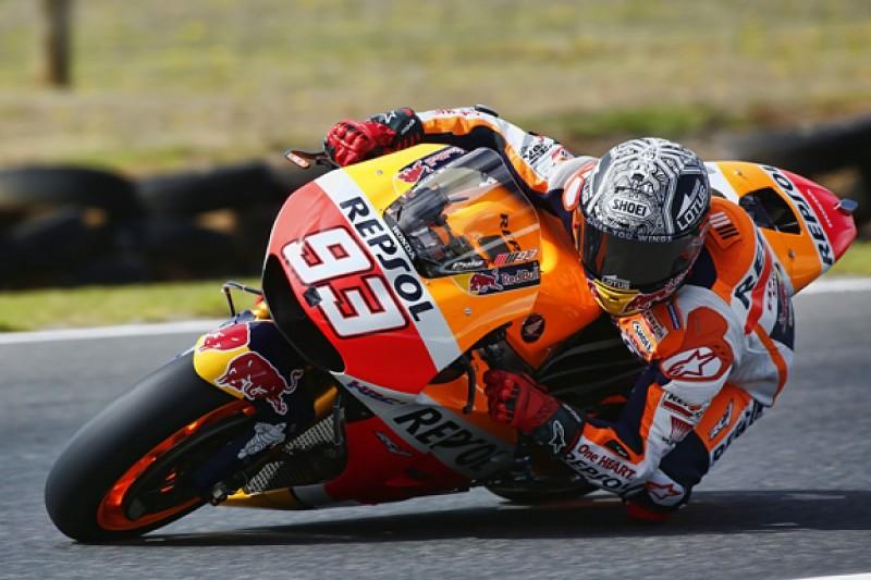 Honda's Marc Marquez finishes Phillip Island MotoGP test on top