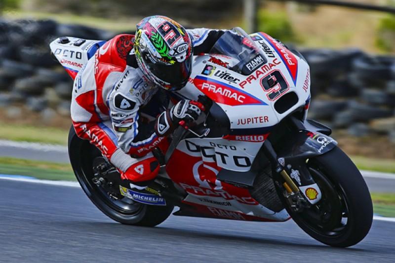Petrucci fastest as rain mars start of Phillip Island MotoGP test