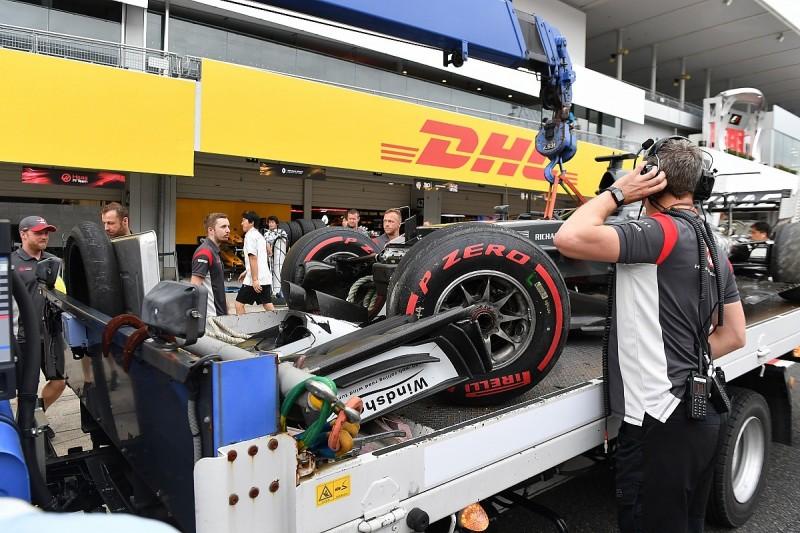 Romain Grosjean's Japanese GP F1 qualifying crash cause is unclear