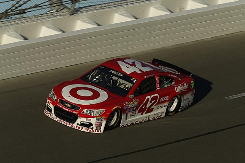 Larson, Hamlin lead Daytona NASCAR practice, Johnson draws pole