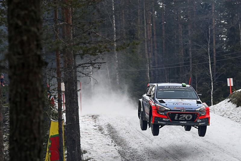 WRC Rally Sweden: Hayden Paddon carves into Sebastien Ogier's lead