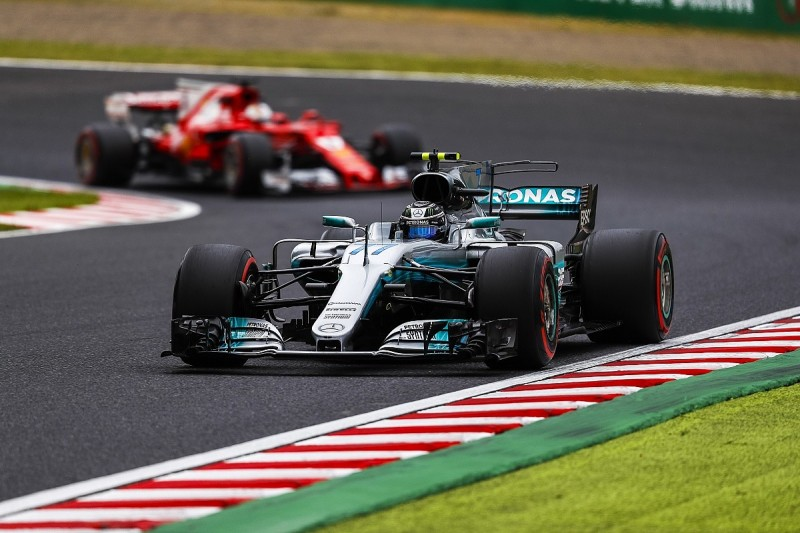 Japanese Grand Prix: Bottas fastest in FP3 before crashing out