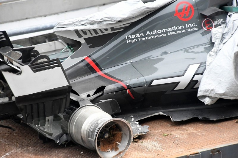 Haas F1 team seeks compensation for Grosjean's Sepang drain crash