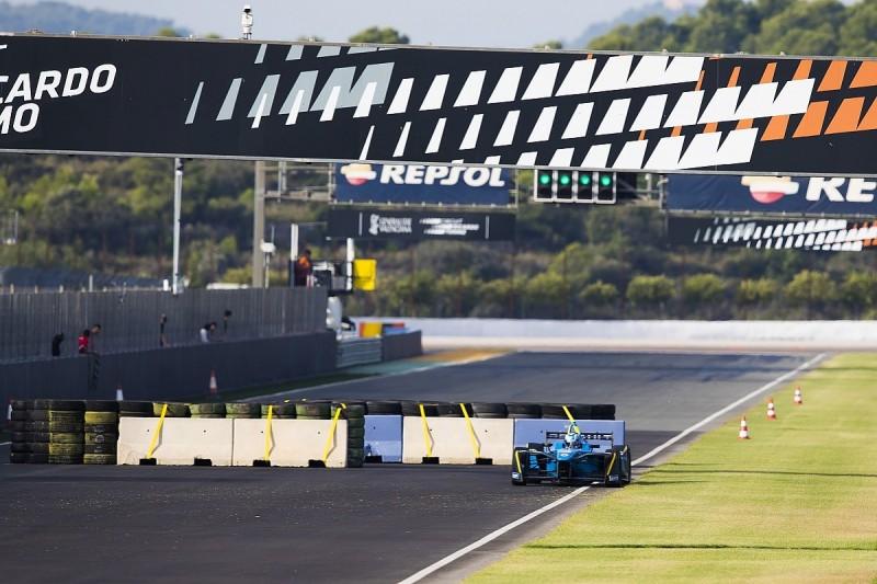 Formula E test interrupted by crash at 'dangerous' chicane