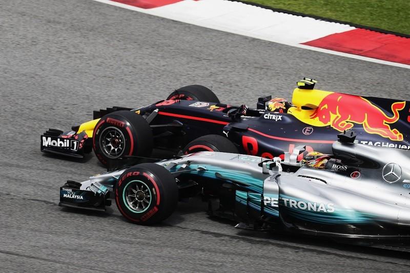 Max Verstappen beats Lewis Hamilton to win F1 Malaysian Grand Prix