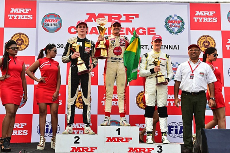 Fittipaldi claims MRF Challenge title, Newey and Schumacher impress
