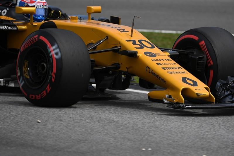 Jolyon Palmer blames Max Verstappen for 'silly' F1 clash at Sepang