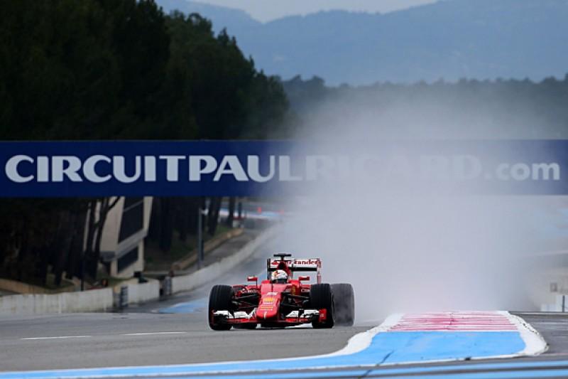 Pirelli F1 wet tyre test: Ferrari's Sebastian Vettel leads day two
