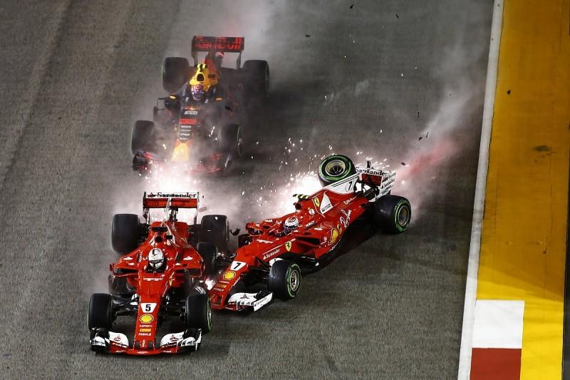 Sebastian Vettel sees no point looking back at Singapore GP crash
